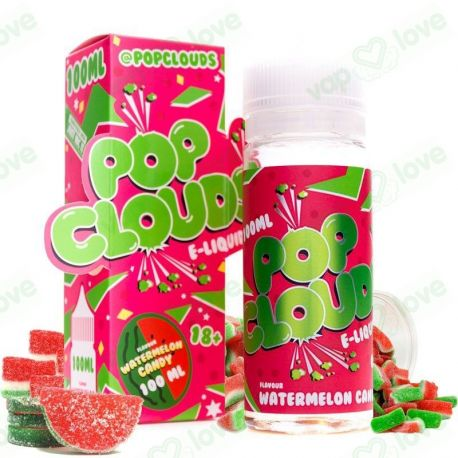 POP CLOUDS WATERMELON CANDY 100ML 0MG