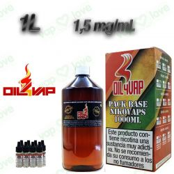 PACK BASE Y NIKOVAPS OIL4VAP 1000ML