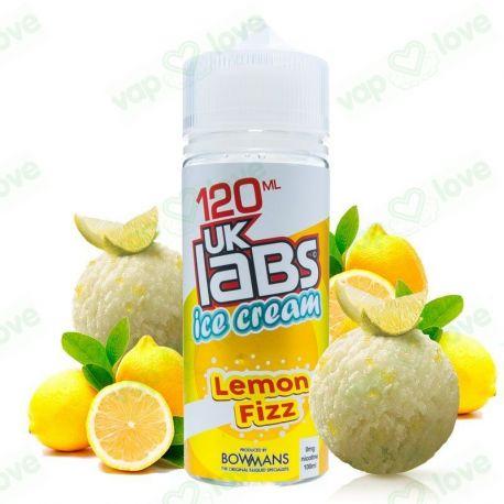 Lemon Fizz 100ml 0mg - UK Labs Ice Cream