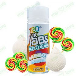 Rainbow Candy 100ml 0mg - UK Labs Ice Cream