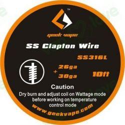 10ft GeekVape Clapton SS316 (26GA+30GA/0.40+0.25)