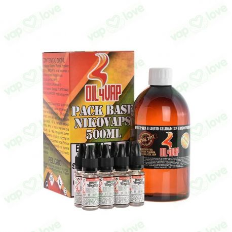 PACK BASE Y NIKOVAPS OIL4VAP 500ML