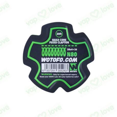 Bobina 6m (20ft) Quad Core Fused Clapton Wire 28*4+36G - Wotofo